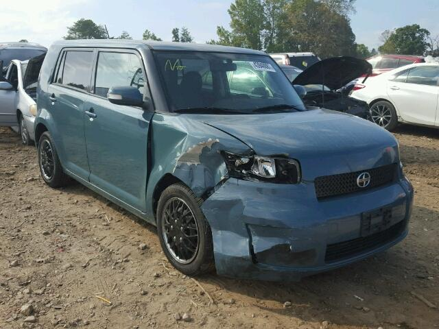 JTLKE50EX81037182 - 2008 TOYOTA SCION XB BLUE photo 1