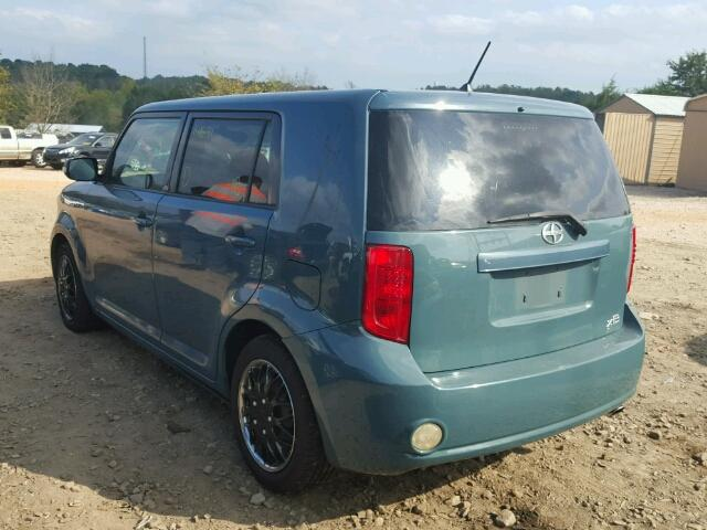 JTLKE50EX81037182 - 2008 TOYOTA SCION XB BLUE photo 3