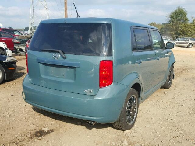 JTLKE50EX81037182 - 2008 TOYOTA SCION XB BLUE photo 4