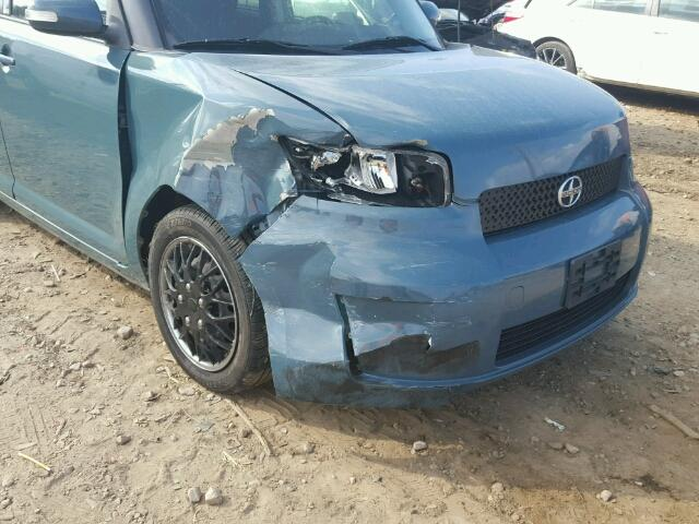JTLKE50EX81037182 - 2008 TOYOTA SCION XB BLUE photo 9