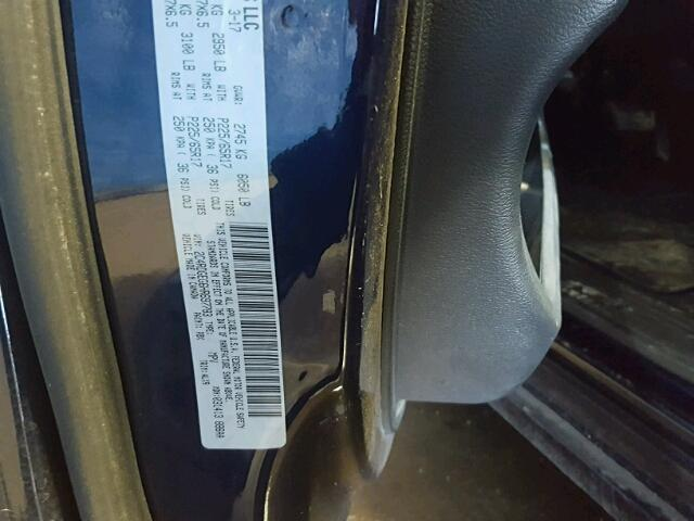 2C4RDGEG6HR697783 - 2017 DODGE GRAND CARA BLUE photo 10