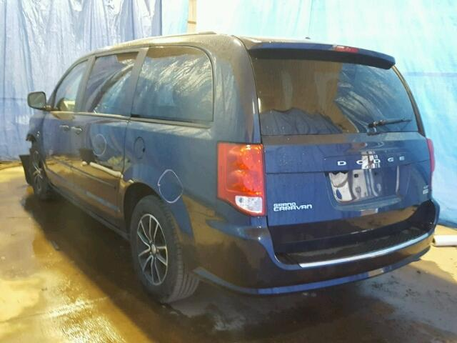 2C4RDGEG6HR697783 - 2017 DODGE GRAND CARA BLUE photo 3