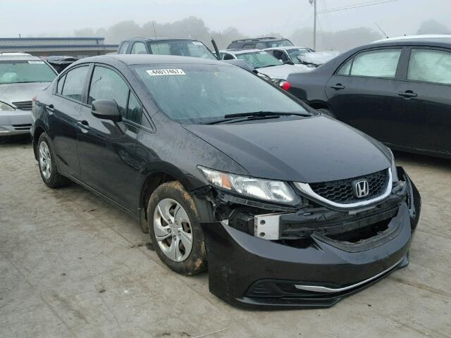 19XFB2F52DE005037 - 2013 HONDA CIVIC LX BLACK photo 1