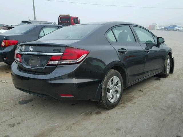 19XFB2F52DE005037 - 2013 HONDA CIVIC LX BLACK photo 4