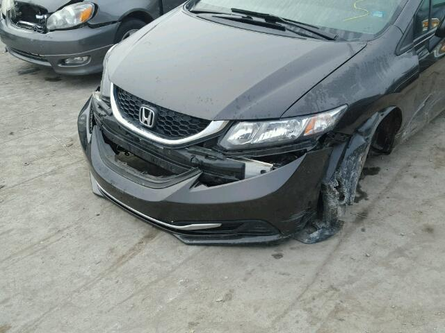 19XFB2F52DE005037 - 2013 HONDA CIVIC LX BLACK photo 9
