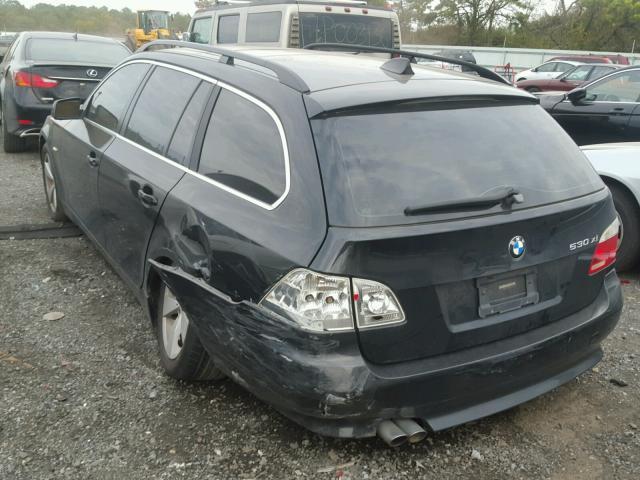WBANN73586CN00726 - 2006 BMW 530 XIT BLACK photo 3