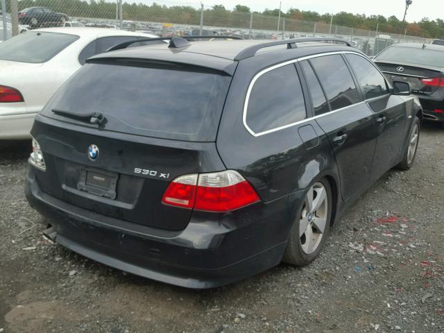 WBANN73586CN00726 - 2006 BMW 530 XIT BLACK photo 4