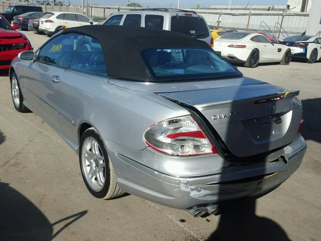 WDBTK76GX4T011501 - 2004 MERCEDES-BENZ CLK SILVER photo 3