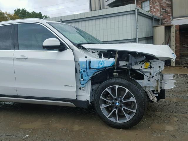 5UXKR0C50H0U50957 - 2017 BMW X5 XDRIVE3 WHITE photo 9