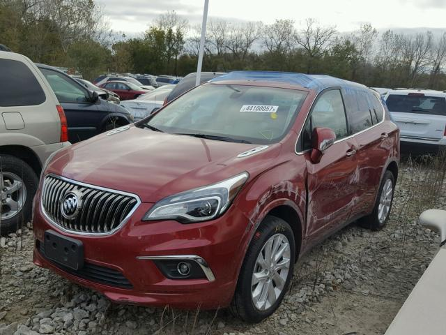 LRBFXESX9HD103191 - 2017 BUICK ENVISION P RED photo 2