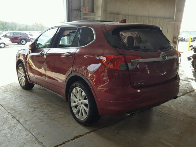 LRBFXESX9HD103191 - 2017 BUICK ENVISION P RED photo 3