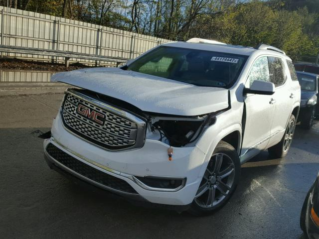 1GKKNXLS0HZ129917 - 2017 GMC ACADIA DEN WHITE photo 2