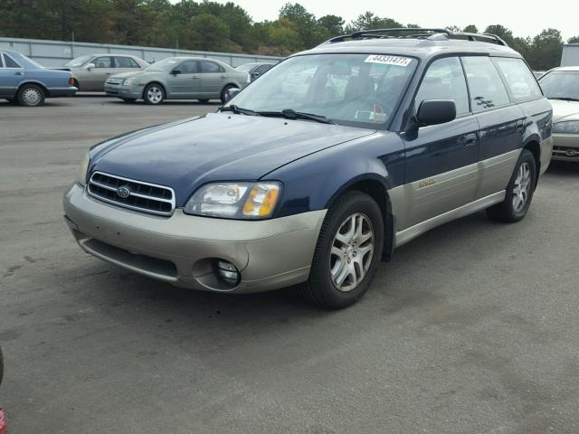 4S3BH665727638103 - 2002 SUBARU LEGACY OUT BLUE photo 2