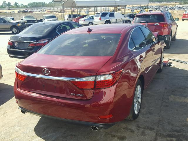 JTHBK1GG3E2117271   2014 LEXUS ES 350 RED Photo 4