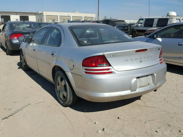 1B3EL46X23N501196 - 2003 DODGE STRATUS SE SILVER photo 3