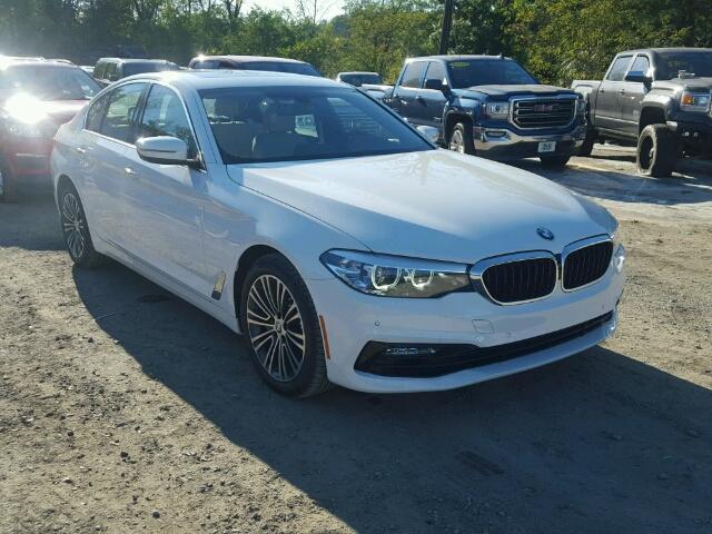 WBAJA5C52JWA35580 - 2018 BMW 530 WHITE photo 1