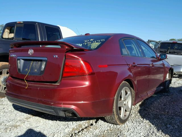 19UUA66274A018846 - 2004 ACURA TL BURGUNDY photo 4