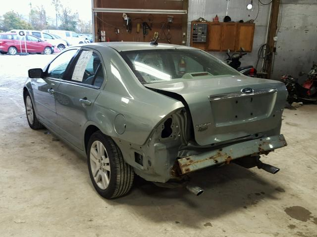 3FAHP08129R149931 - 2009 FORD FUSION SEL GREEN photo 3