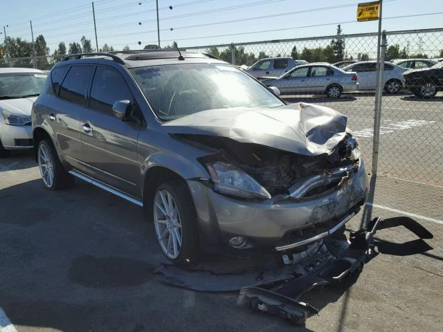 JN8AZ08WX7W658424 - 2007 NISSAN MURANO SL GRAY photo 1