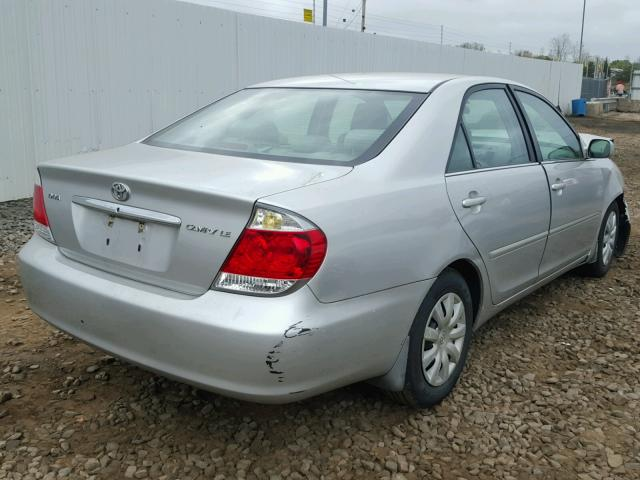 4T1BE32K35U541775 - 2005 TOYOTA CAMRY LE SILVER photo 4