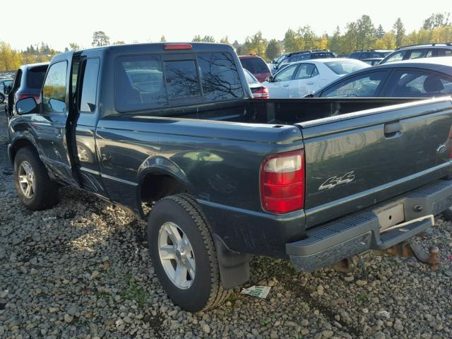 1FTYR15EX4PA65180 - 2004 FORD RANGER SUP GREEN photo 3