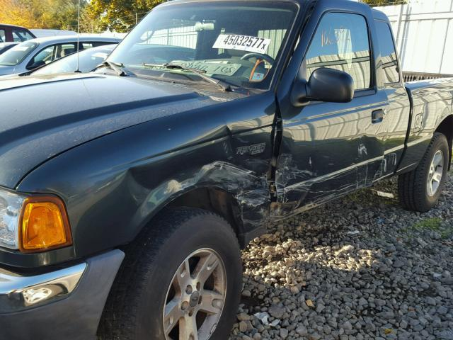 1FTYR15EX4PA65180 - 2004 FORD RANGER SUP GREEN photo 9