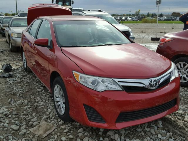 4T4BF1FK3CR252927 - 2012 TOYOTA CAMRY RED photo 1