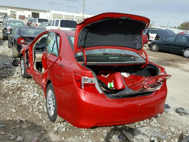 4T4BF1FK3CR252927 - 2012 TOYOTA CAMRY RED photo 3