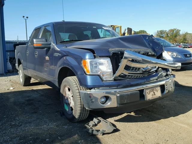 1FTFW1CF1EFB62772 - 2014 FORD F150 BLUE photo 1