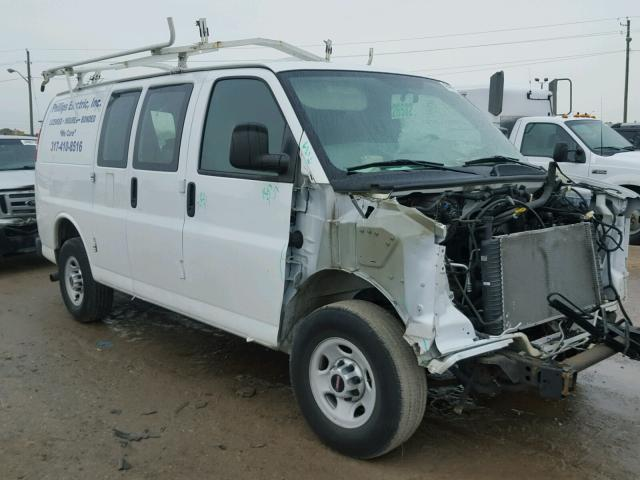 1GTW7FCA3D1101305 - 2013 GMC SAVANA G25 WHITE photo 1