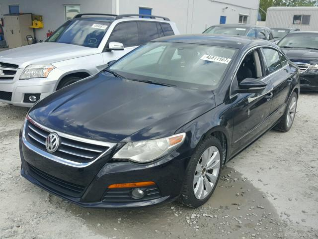 WVWMN7AN6AE549681 - 2010 VOLKSWAGEN CC SPORT BLACK photo 2