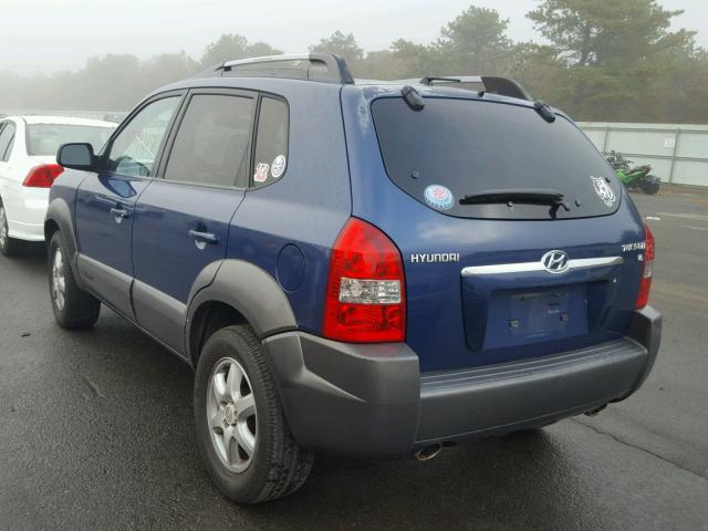 KM8JN12D35U120656 - 2005 HYUNDAI TUCSON GLS BLUE photo 3