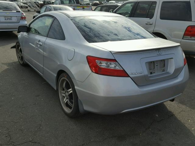 2HGFG11836H563792 - 2006 HONDA CIVIC EX SILVER photo 3