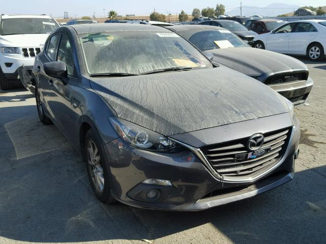 3MZBM1L79FM155015 - 2015 MAZDA 3 TOURING GRAY photo 1