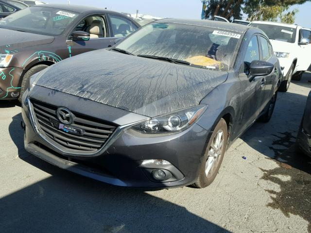 3MZBM1L79FM155015 - 2015 MAZDA 3 TOURING GRAY photo 2