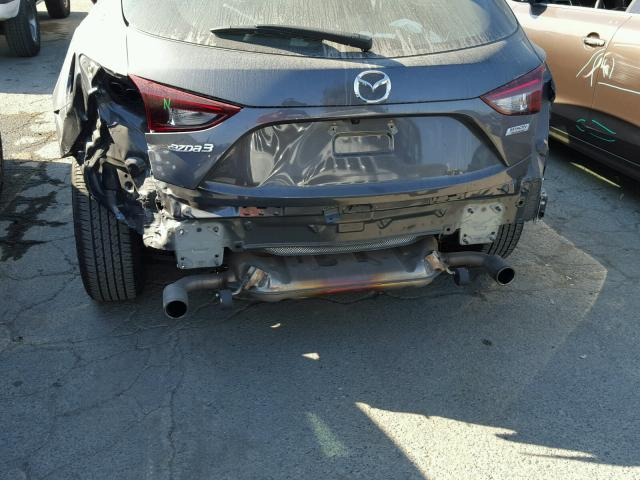 3MZBM1L79FM155015 - 2015 MAZDA 3 TOURING GRAY photo 9