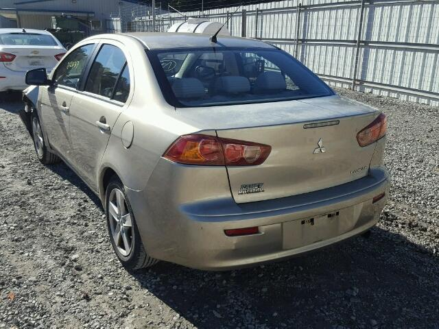 JA3AU26U58U028068 - 2008 MITSUBISHI LANCER ES GOLD photo 3