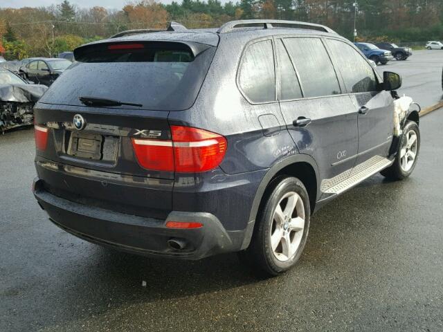 5UXFE43569L271083 - 2009 BMW X5 XDRIVE3 BLUE photo 4