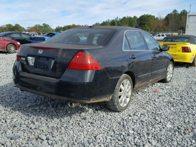 1HGCM66547A105783 - 2007 HONDA ACCORD EX BLUE photo 4