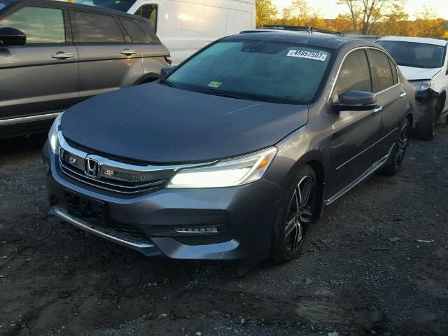 1HGCR3F91HA027936 - 2017 HONDA ACCORD CHARCOAL photo 2