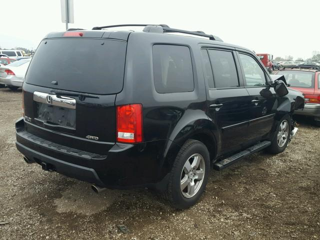 5FNYF4H67BB004892 - 2011 HONDA PILOT EXL BLACK photo 4