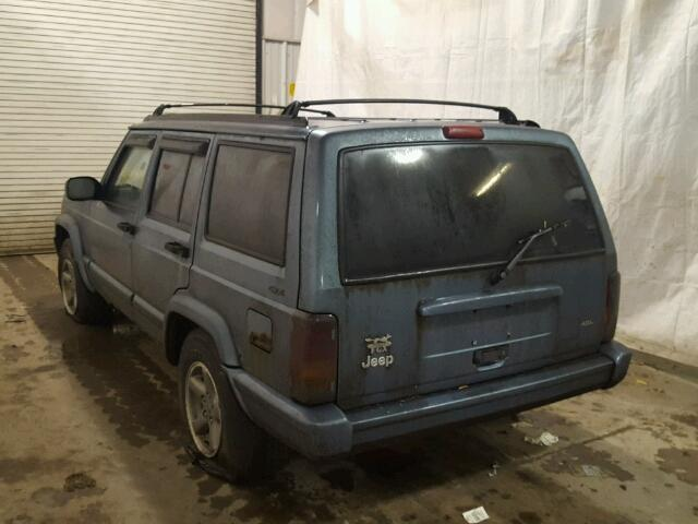 1J4FJ68S1WL132847 - 1998 JEEP CHEROKEE S GRAY photo 3