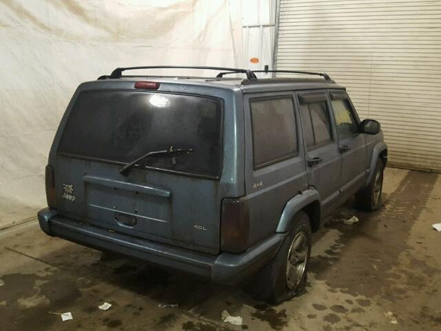 1J4FJ68S1WL132847 - 1998 JEEP CHEROKEE S GRAY photo 4
