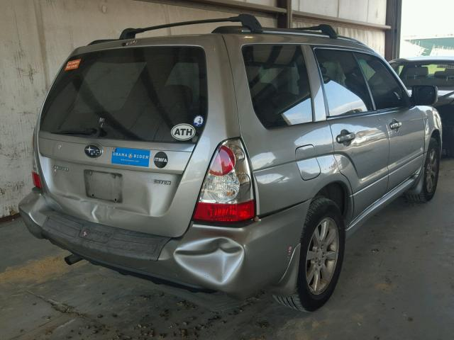 JF1SG65626H724745 - 2006 SUBARU FORESTER SILVER photo 4