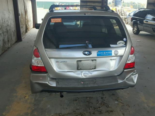 JF1SG65626H724745 - 2006 SUBARU FORESTER SILVER photo 9