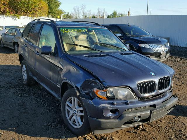 5UXFA13506LY48521 - 2006 BMW X5 3.0I BLUE photo 1