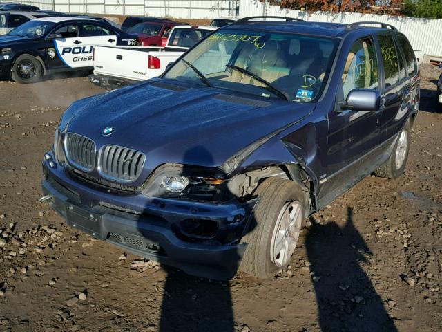 5UXFA13506LY48521 - 2006 BMW X5 3.0I BLUE photo 2