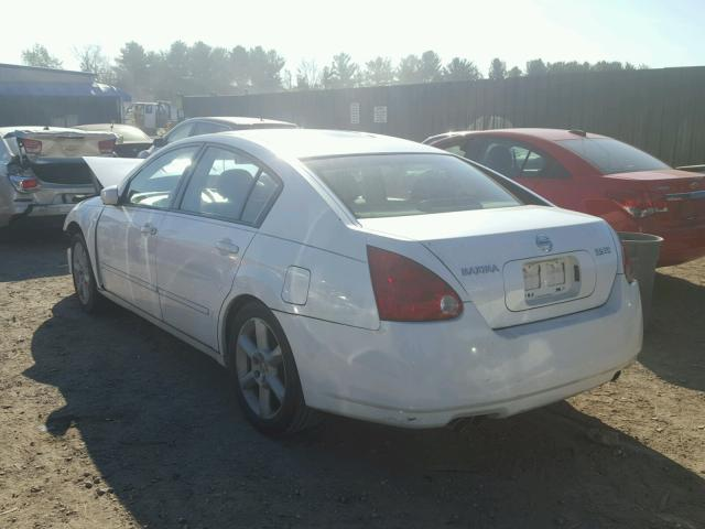 1N4BA41E74C906714 - 2004 NISSAN MAXIMA SE WHITE photo 3
