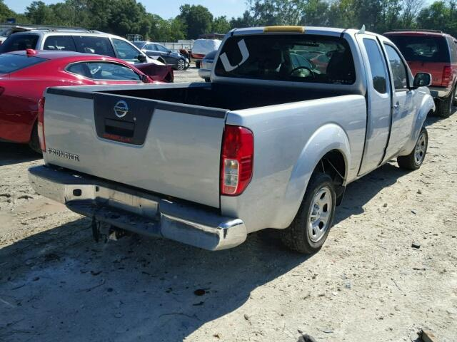 1N6BD0CT3CC459199 - 2012 NISSAN FRONTIER SILVER photo 4