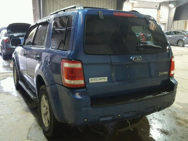 1FMCU59H78KE18770 - 2008 FORD ESCAPE HEV BLUE photo 3